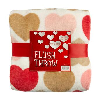 Multiple Hearts Throw Blanket