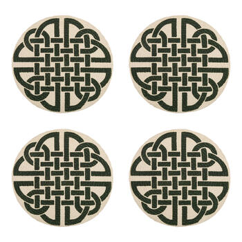 Green Lattice Round Placemats, Set of 4 view 1