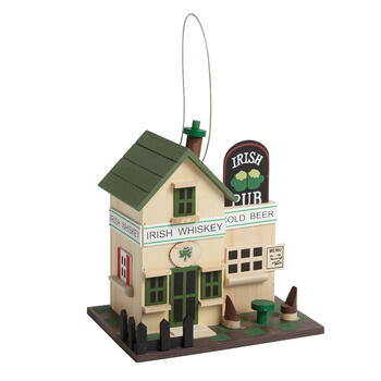 """Irish Pub"" Decorative Birdhouse view 1"