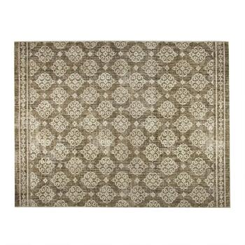 "Mohawk Home 7'5"" x 10' Gray Medallion Area Rug"