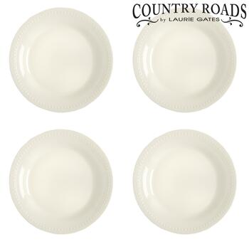 Hobnail Linen Country Roads by Laurie Gates Salad Plates, Set of 4