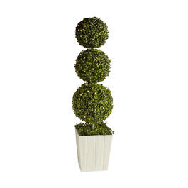 "39"" Triple-Tier LED Boxwood Topiary view 1"