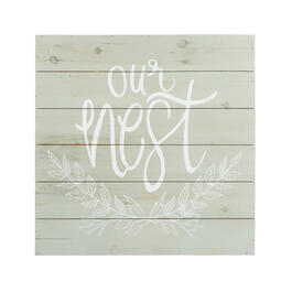 "24"" ""Our Nest"" Gray Square Wood Wall Decor view 1"