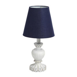 "The Grainhouse™ 15"" White/Navy Antique Accent Lamp view 1"