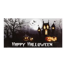 "10""x20"" ""Happy Halloween"" Haunted House LED Wall Decor"