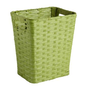 Woven Wastebasket with Handles