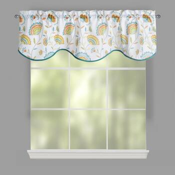 Hensley Vintage Floral Window Valances, Set of 2