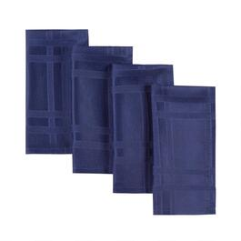Solid Indigo Microfiber Napkins, Set of 8