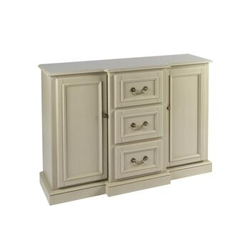 "50"" Light Gray 2-Door 3-Drawer Buffet Cabinet"