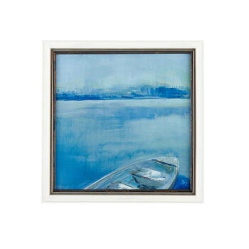 Wd Frm Abst/bl 18x18 Boat view 1