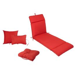 Solid Red Indoor/Outdoor Pads and Cushions