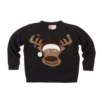 Reindeer with Antler String Lights Ugly Sweater view 1