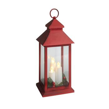 "14"" LED Taper Trio Candle Lantern"