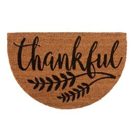 "18""x28"" ""Thankful"" Slice Coir Door Mat"