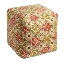 Desert Tile Indoor/Outdoor Square Ottoman