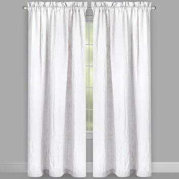 Solid Wrinkle Rod Pocket Window Curtains, Set of 2 view 2