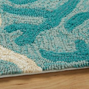 Coastal Living Seascapes™ Blue Coral Border Rug view 2