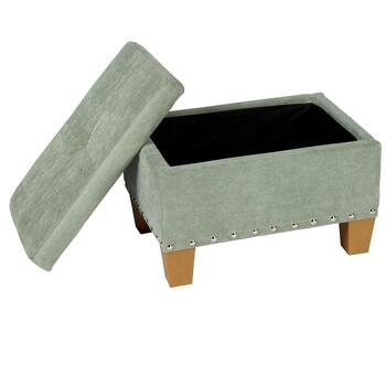 Kent Tufted Storage Ottoman with Nailheads view 2 view 3 view 4