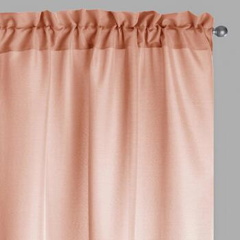 "84"" Solid Textured Window Curtains, Set of 2"