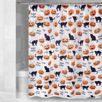 Cats and Pumpkins Shower Curtain