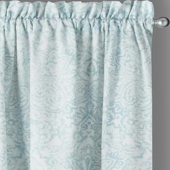 "84"" Gray Brynn Paisley Window Curtains, Set of 2"