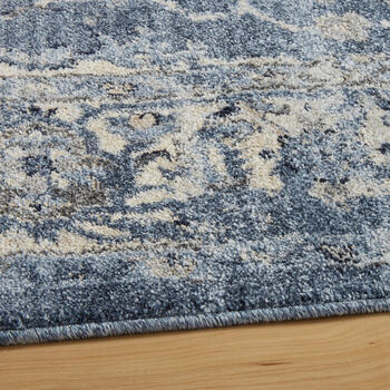 The Grainhouse™ Blue/Ivory Faded Traditional Area Rug view 2