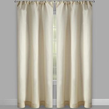 Fleck Tan Rod Pocket Window Curtains, Set of 2 view 2