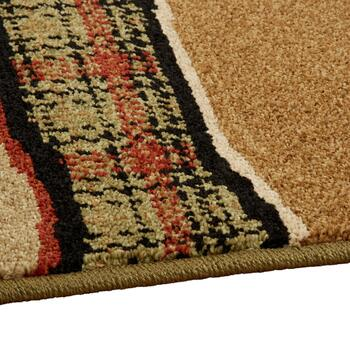 Brown/Black Deer Lodge Area Rug view 2