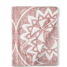"Spring Pink Medallion 50"" x 70"" Throw Blanket view 1"