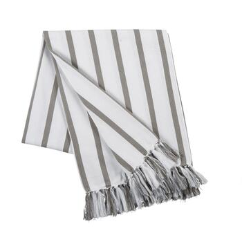 "50""x60"" Stripe Fringe Throw Blanket"