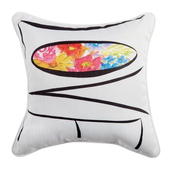"""Love"" Flowers Square Throw Pillow"