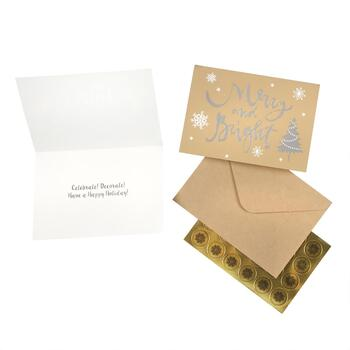 "40-Count ""Merry and Bright"" Greeting Cards with Seals"