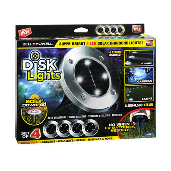 As Seen on TV Solar Disk Lights, Set of 4 view 1