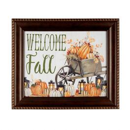 "16""x20"" ""Welcome Fall"" LED Framed Wall Decor"
