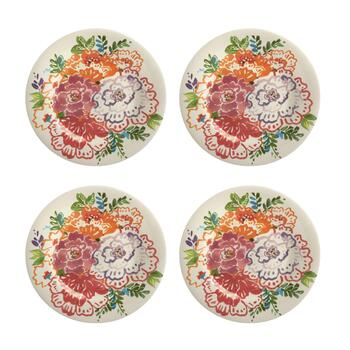 Country Roads Floral Salad Plates, Set of 4