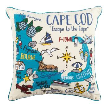 "Grey Whale Outfitters™ ""Escape to the Cape"" Square Throw Pillow"