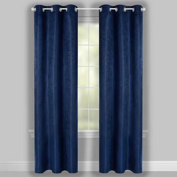 "84"" Solid Grommet Blackout Window Curtains, Set of 2 view 2"
