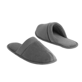 Famous Maker Men's Gray Terry Scuff Slippers