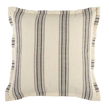 The Grainhouse™ Blue/White Stripe Square Throw Pillow view 1