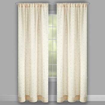 Studded Tan Window Curtains, Set of 2 view 2