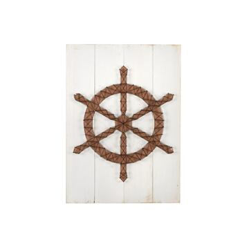 "16"" String Ship Wheel Wall Decor"