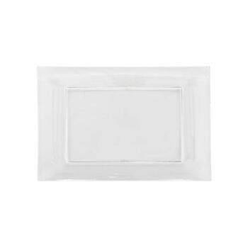 "PLAS TRAY CLR 6""X13"" 3CT view 1"