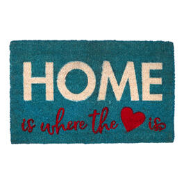 """Home is Where"" Blue Coir Mat view 1"
