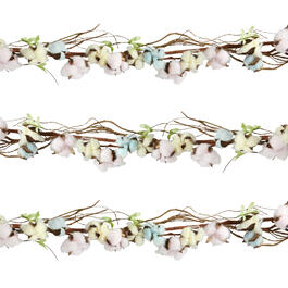 5' Colored Cotton Twig Garland view 1
