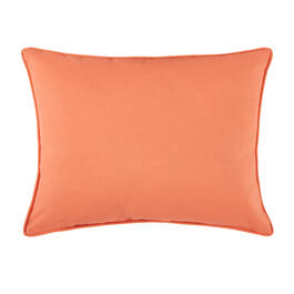 Waverly® Solid Coral Indoor/Outdoor Oblong Throw Pillow view 1
