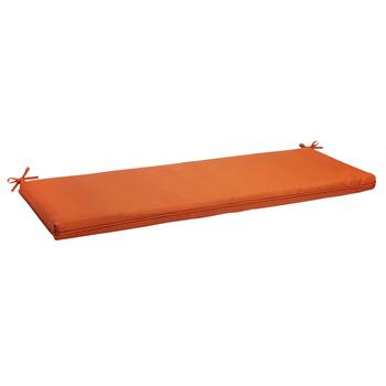 Solid Tangerine Indoor/Outdoor Bench Seat Pad