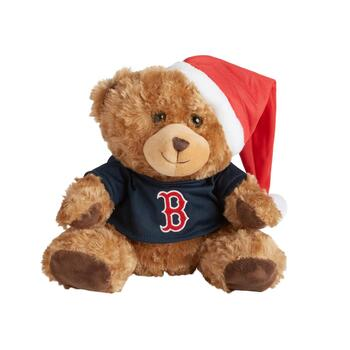 "10.5"" Boston Red Sox Santa Bear"
