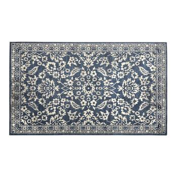 6'x9' Indigo Flowers Area Rug