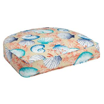 Seashells Indoor/Outdoor Gusset Seat Pad