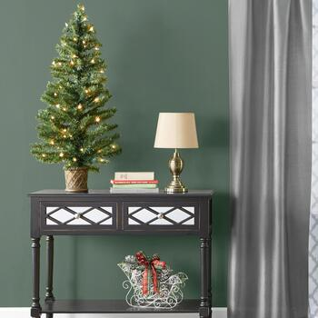 Pre-Lit Trees & Accent Furniture